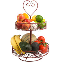 Hampton Direct 2 Tier Metal Fruit Vegetable Candy Condiments Storage Stand