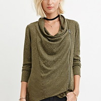 Marled Asymmetric-Front Sweater