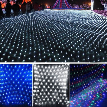 2M x 2M 144 Led Bulbs Net Fairy Lights For Xmas Party Wedding Outdoor Decoration   SV008166 4 = 1946788548