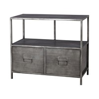 Gunther Industrial Chic Media Unit Graphite