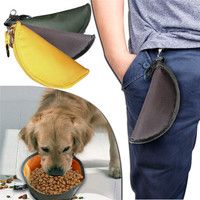 Waterproof Outdoor Pet Collapsible Foldable Travel Camping Food Water Feeder
