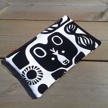 Marimekko Make up bag, Make up case, Zipper pouch, Fabric pouch, Box purse, Cosmetic bag, Travel pouch, make up purse, sunglasses case