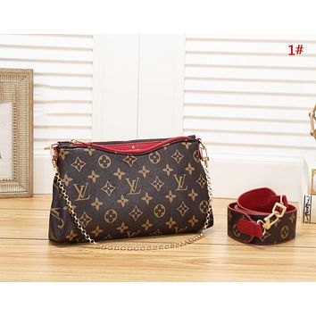 LV Louis Vuitton New fashion monogram print shoulder bag women 1#