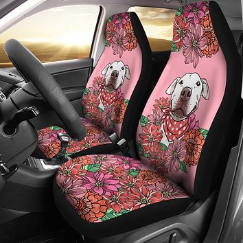 Illustrated Pit Bull Car Seat Covers