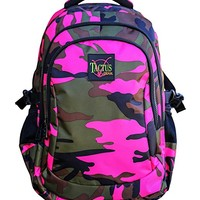 Large Tactus Camo Backpacks Girls Boys school backpacks Florescent Camouflage 13.5 W x 8 D x 19.5 H