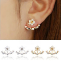 Crystal Stud Earrings Boucle d'oreille Femme 2016 Fashion Flower Earrings for Women Gold Bijoux Jewelry Mujer [6269788420]
