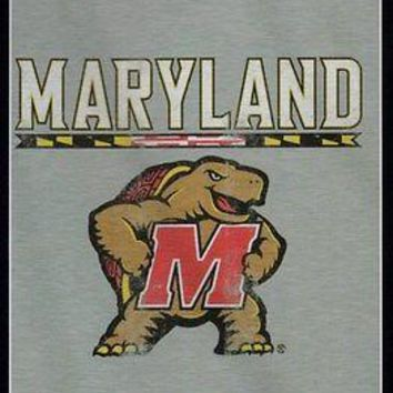 Maryland Terrapins NCAA Script Sweatshirt Material Poly/Cotton Throw