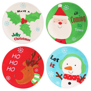 Boston Warehouse: Holly Jolly Plate Set Of 4, at 36% off!