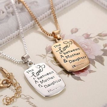 DCCKIX3 Fashion Love Between Mother and Daughter Gold/Silver Chain Pendant Necklace Best Gift = 1945957892