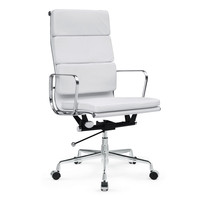 Soft Conference Office Chair High Back, White