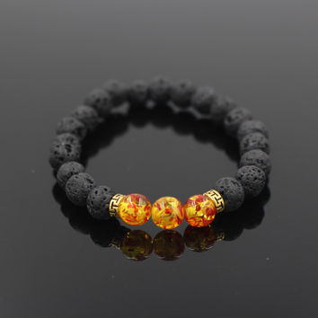 Hot Selling Lava Stone  Bracelet Jewelry