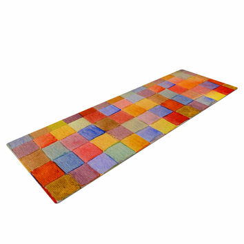 "Marianna Tankelevich ""Rainbow Mozaic"" Multicolor Pattern Yoga Mat"