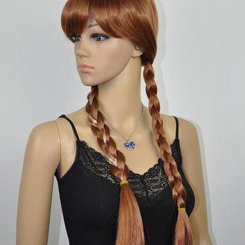 Princess Anna with Blonde Streak // Full synthetic wig