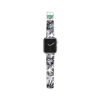 "Sonal Nathwani ""Flowers on Green"" Apple Watch Strap"
