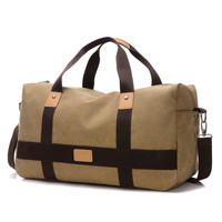 Canvas Patchworked Duffle Bag