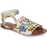 Tory Burch May Printed Floral Ankle Strap Sandal (Women) | Nordstrom