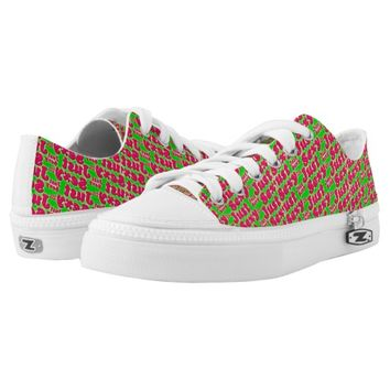 Just Sexy Pattern Print Low Top Shoes Printed Shoes