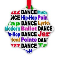 Dance Styles (#2) Snowflake Ornament