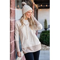 Always By My Side Drawstring Pullover : Cream