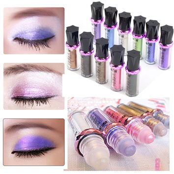 APINKGIRL 11 Colors/lot Diamond Bright Colorful Shine Gloss Mineral Eyeshadow Powder Pencil Eye Shadow Ball Eyeshadow Powder Set