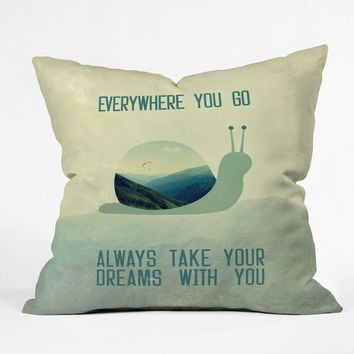 Belle13 Always Take Your Dreams With You Throw Pillow