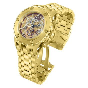 Invicta 13744 Men's Subaqua Specialty Reserve Gold Dial Gold Plated Steel Bracelet Chronograph Dive Watch