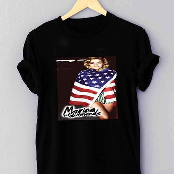 Marina and The Diamonds American Flag - T Shirt for man shirt, woman shirt XS / S / M / L / XL / 2XL / 3XL **
