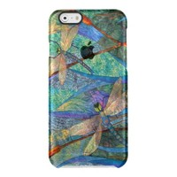 Colorful Dragonfly Uncommon Clearly™ Deflector iPhone 6 Case