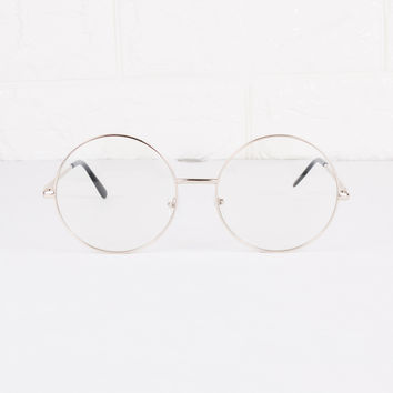 Round Clear Lens Circle Spec Glasses