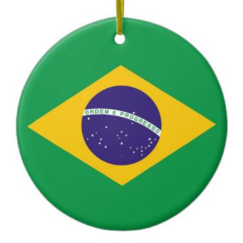 Ornament with flag of Brazil