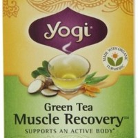Yogi Muscle Recovery Green Tea, 16 Tea Bags (Pack of 6)