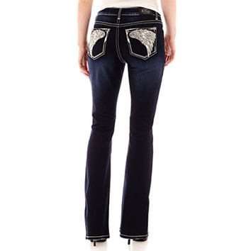 Love Indigo Angel Wing Back Pocket Jeans