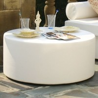 la-Fete Puck Modern Outdoor Table, ottoman - HomeInfatuation.com