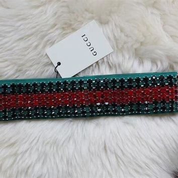 GUCCI Web headband with crystals1
