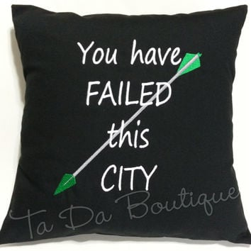 Green Arrow inspired Pillow Case Cover