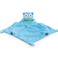 "BLUE BABY BOY OWL (12"" H X 12"" W) SECURITY BLANKET Baby Nursery"