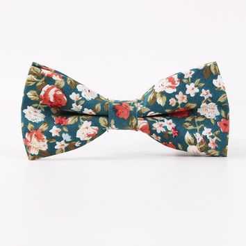 Mantieqingway Formal Men's Bowtie Neckwear Brand Popular Male Bowknot Bowties Cravats Casual Floral Cotton Bow Tie Wedding Gifts