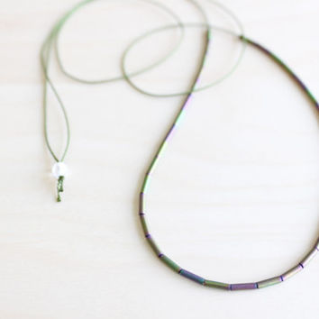 Dainty silk necklace/ silk thread necklace/ effortless chic necklace/ dainty jewelry