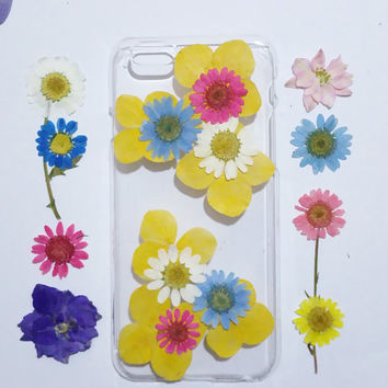 iPhone 6s cover, iPhone 6s Plus Case Clear, lilac Flower iPhone 6 Case,flower iPhone 6s Case, iPhone 6s Plus Case, pink daisy iphone 6 case