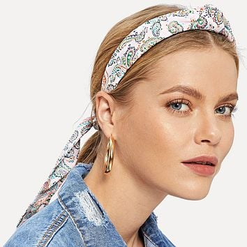 Paisley Headband and Scrunchie Set