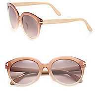 Tom Ford Eyewear - Round 54mm Acetate Sunglasses - Saks Fifth Avenue Mobile