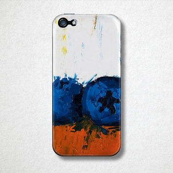 Blueberry Phone Case - iPhone 5 Case - iPhone 4 Case - Fine Art Phone Case - Samsung Galaxy S4 Case - Cell Phone Case - Plastic Phone Case