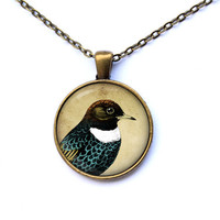 Cute pendant Bird jewelry Animal necklace CWAO108
