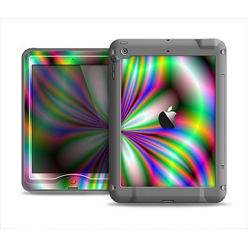 The Neon Tie-Dye Flower Apple iPad Mini LifeProof Nuud Case Skin Set