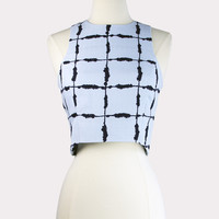 Windowpane Crop Top