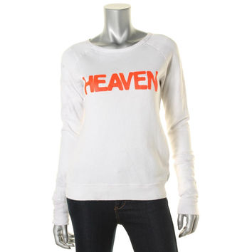 Free City Womens Heaven Fleece Lined Graphic Sweatshirt