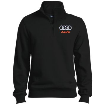 Audi Quarter-Zip Embroidered Sweatshirt
