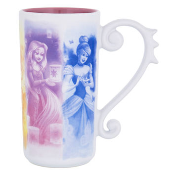 Disney Parks Princesses Dream Tall Latte Ceramic Mug New