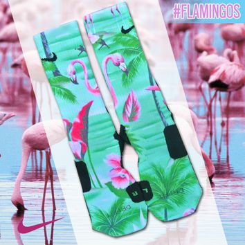 Custom Nike Elite Socks - Flamingo | Lacrosse Unlimited