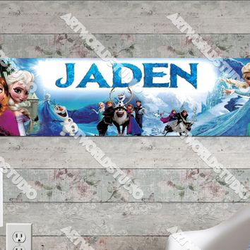 Personalized/Customized Frozen Elsa #2 Poster, Border Mat and Frame Options Banner 159-2